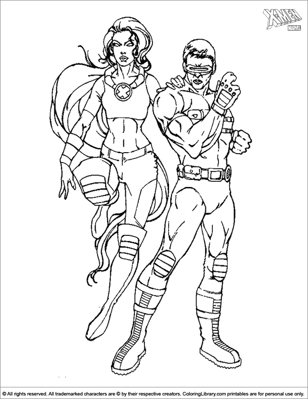 X men coloring page for children