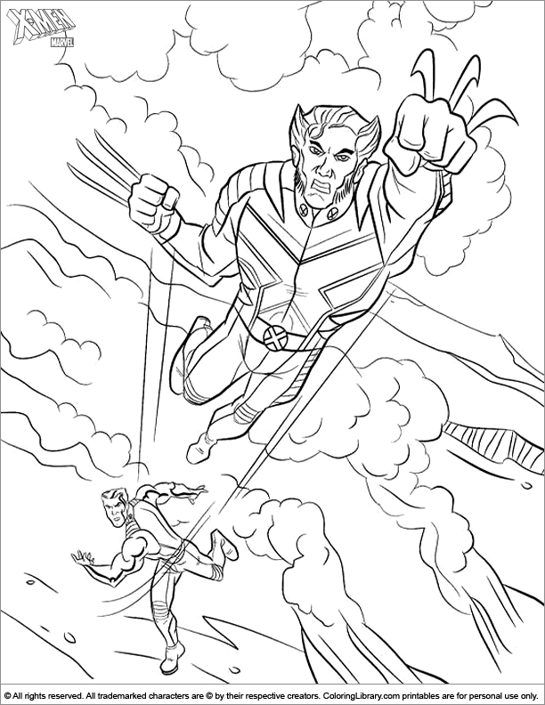 X men printable coloring picture