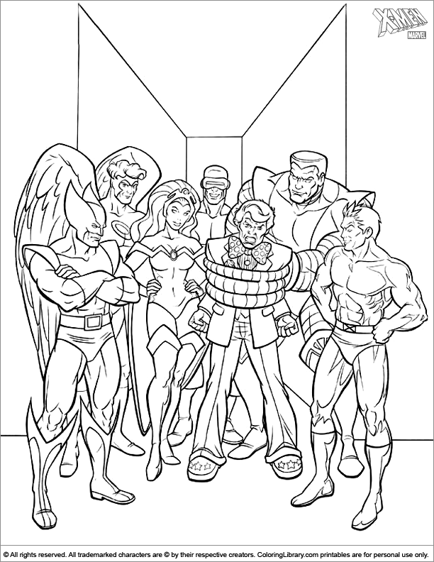 Free X men coloring page