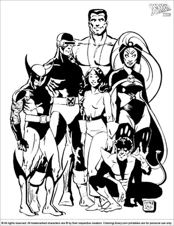 X men coloring book printable
