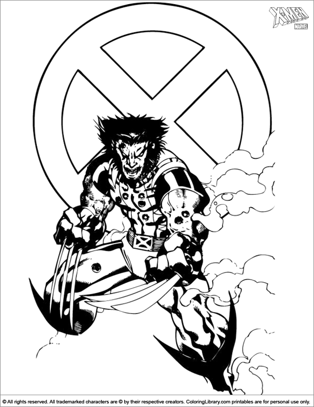 Cool X men coloring page