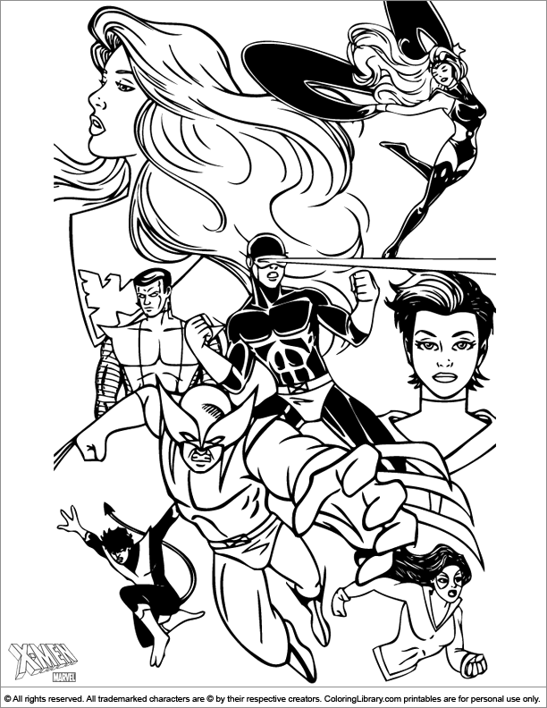 Fun X men coloring page