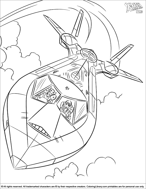 X men printable coloring page for kids